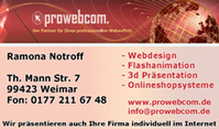 ProWebCom -Webdesign- -Onlineshop- -Flash-