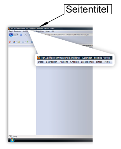 Screenshot Seitentitel