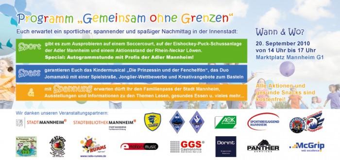 Weltkindertag in Mannheim am 20.09.2010 - Gemeinsam ohne Grenzen
