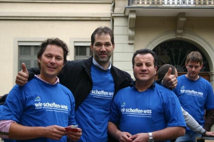Rechtsanwalt Uwe Krieger, Sanitärfachmann Holger Bieber, Fahrradspezialist Kazdem Tariverdian